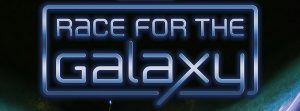 How to play Race for the Galaxy game logo against a starfield