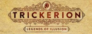 Trickerion: Legends of Illusion board game logo cropped Mindclash Games APE Nights Around a Table