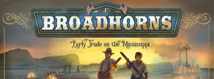 Broadhorns: Early Trade on the Mississippi board game logo cropped Nights Around a Table