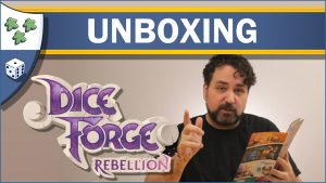 Nights Around a Table Dice Forge: Rebellion board game expansion unboxing video thumbnail
