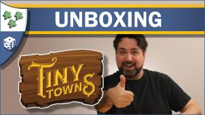 Nights Around a Table Tiny Towns board game unboxing video thumbnail
