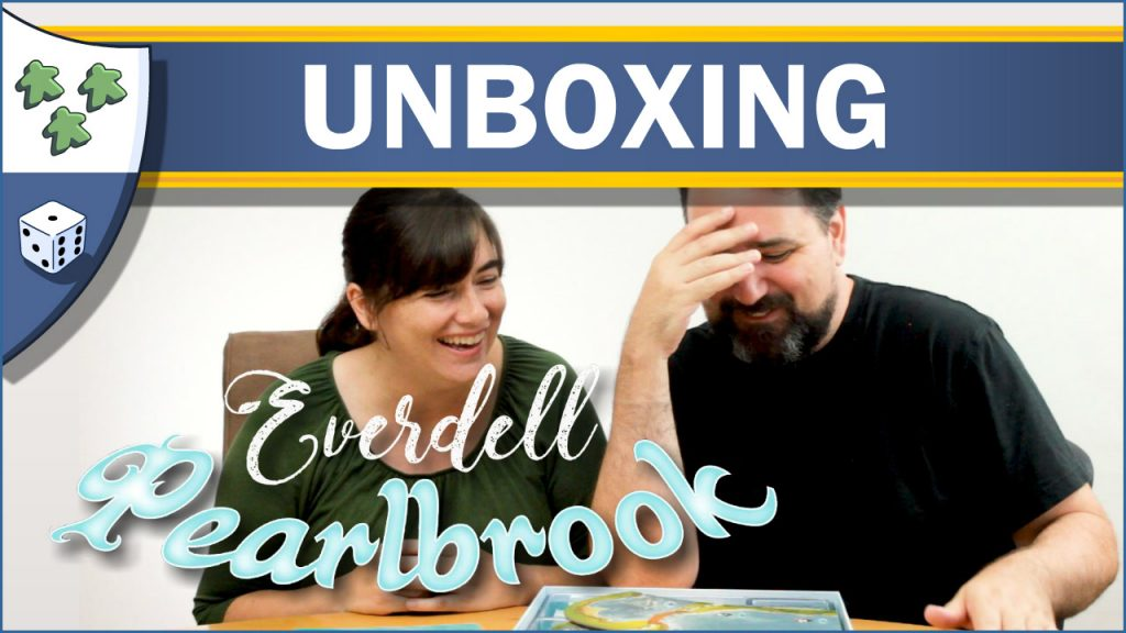 Nights Around a Table Everdell Pearlbrook unboxing video thumbnail with Ryan Henson Creighton and Cheryl Creighton