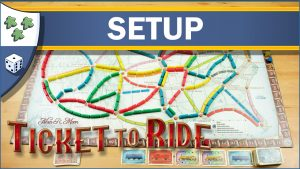Nights Around a Table How to Set Up Ticket to Ride board game by Days of Wonder YouTube video thumbnail