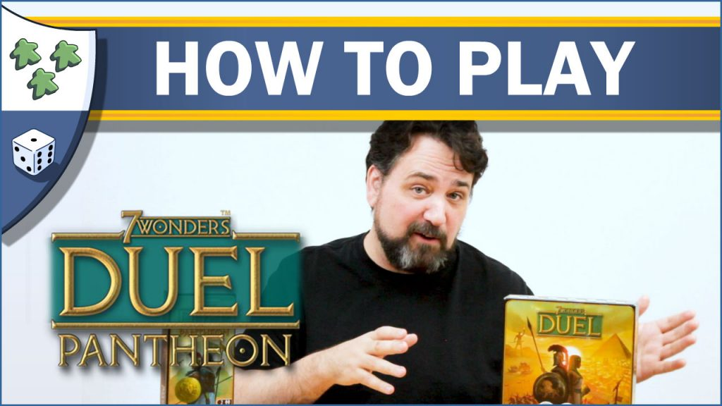 Nights Around a Table 7 Wonders Duel: Pantheon board game expansion how to play video thumbnail
