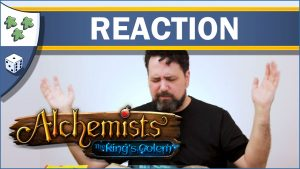 Nights Around a Table Alchemists: The King's Golem expansion unboxing reaction video thumbnail