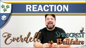 Nights Around a Table Everdell: Spirecrest and Bellfaire expansion unboxing reaction video thumbnail board game