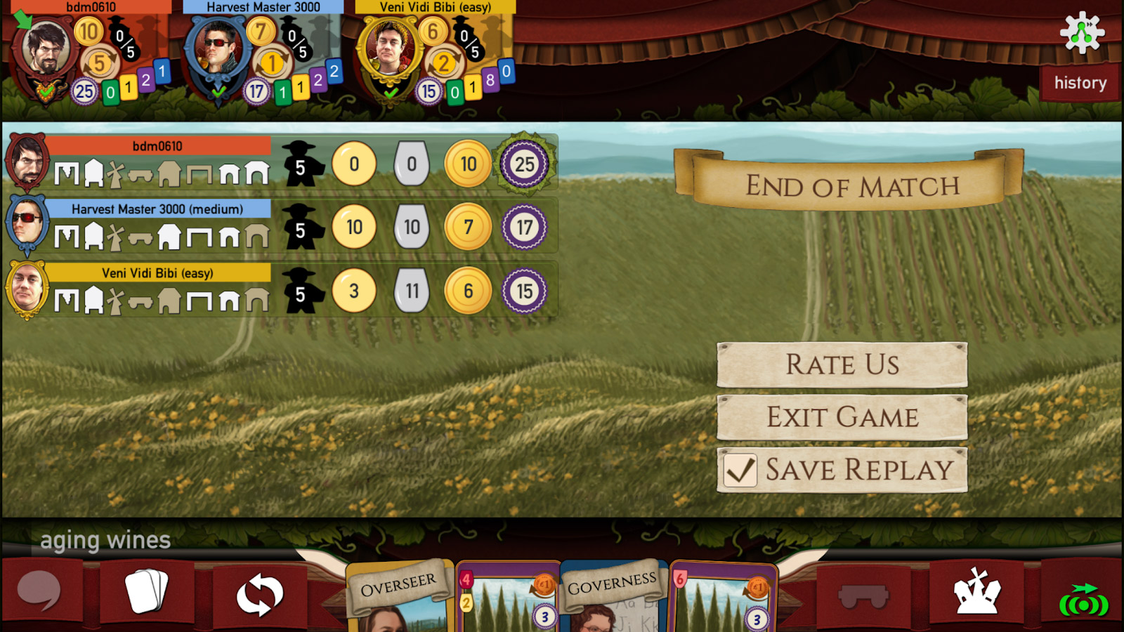 Nights Around a Table - Viticulture Essential Edition on iOS