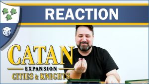 Nights Around a Table - Catan: Cities & Knights unboxing board game expansion reaction video thumbnail