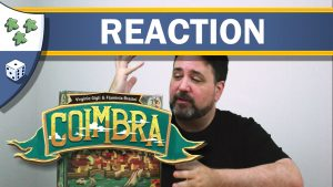 Nights Around a Table - Coimbra board game unboxing reaction video thumbnail