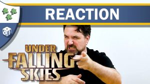 Nights Around a Table - Under Falling Skies board game unboxing reaction YouTube thumbnail