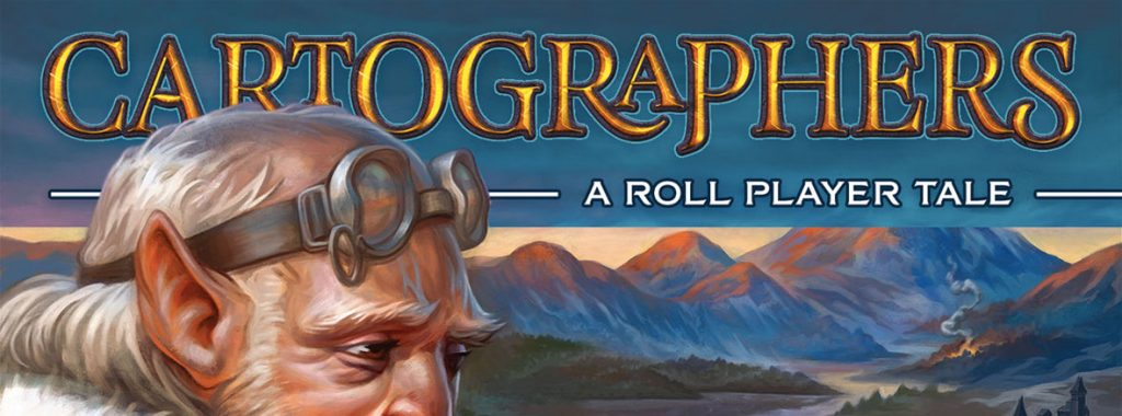 Nights Around a Table - Cartographers board game roll n' write title image cropped