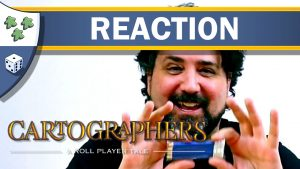 Nights Around a Table - Cartographers board game unboxing reaction video thumbnail