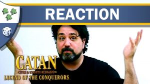 Nights Around a Table - Catan: Cities & Knights - Legend of the Conquerors board game video thumbnail unboxing reaction