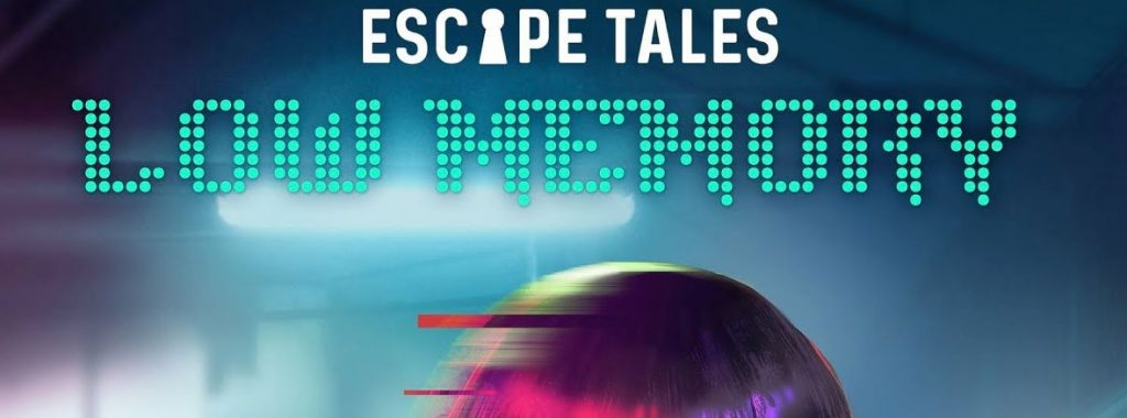 Nights Around a Table - Escape Tales: Low Memory escape the room board game in a box title cropped