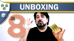 Nights Around a Table - They Who Were 8 board game unboxing reaction video thumbnail