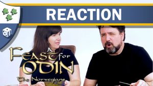 Nights Around a Table - A Feast for Odin: The Norwegians board game expansion unboxing reaction video thumbnail