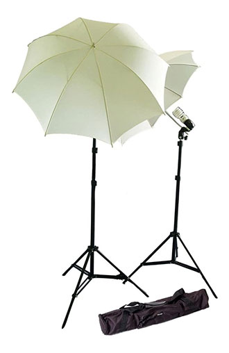 CowboyStudio Photography Studio Continuous Lighting Kit w/Two 45w 5000k Daylight Balanced Fluorescent Photo Light Bulbs and Carry Case