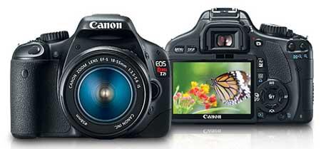 Canon Rebel t2i DSLR camera