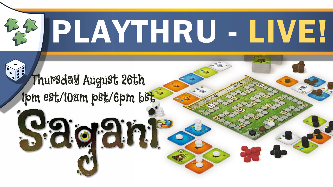 Nights Around a Table - Sagani solo board game live playthru thumbnail